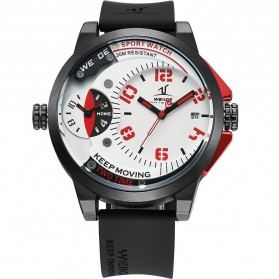 Weide Universe Series Dual Time Zone 30M Water Resistance - UV1501 - White