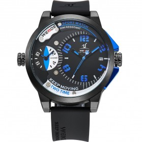 Weide Universe Series Dual Time Zone 30M Water Resistance - UV1501 - Blue - 1