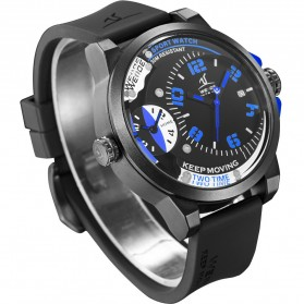 Weide Universe Series Dual Time Zone 30M Water Resistance - UV1501 - Blue - 2