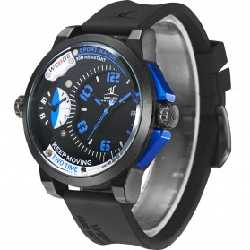 Weide Universe Series Dual Time Zone 30M Water Resistance - UV1501 - Blue - 5