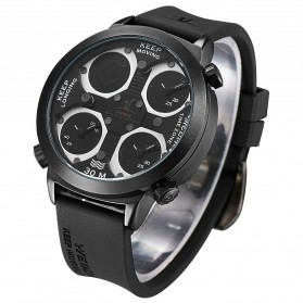 Weide Universe Series Triple Time Zone 30M Water Resistance - UV1503 - Black - 1