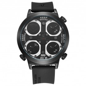 Weide Universe Series Triple Time Zone 30M Water Resistance - UV1503 - Black - 2