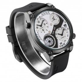 Weide Universe Series Dual Time Zone Compass 30M Water Resistance - UV1505 - White/Black - 4