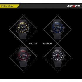 Weide Japan Quartz Silicone Strap Miyota Men Sports Watch 30M Water Resistance - WH3402 - Black with White Side - 11