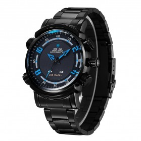 Weide Japan Quartz Stainless Strap Men Sports Watch 30M Water Resistance - WH1101 - Black/Blue