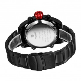 Weide Japan Quartz Stainless Strap Men Sports Watch 30M Water Resistance - WH2310 - Black/Red - 6