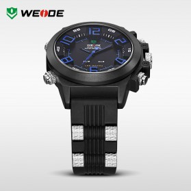 Weide Japan Quartz Silicone Strap Men LED Sports Watch 30M Water Resistance - WH5202 - Black/Red - 4