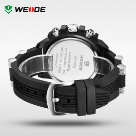 Weide Japan Quartz Silicone Strap Men LED Sports Watch 30M Water Resistance - WH5202 - Black/Red - 5