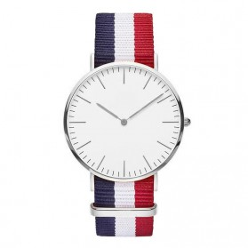 Jam Tangan Fashion Strap Berwarna (OEM) - White/Red