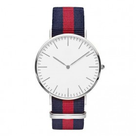 Jam Tangan Fashion Strap Berwarna (OEM) - Black/Red