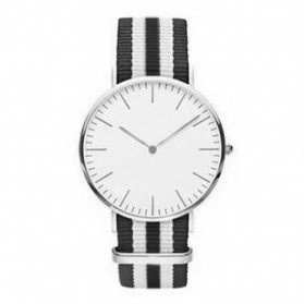 Jam Tangan Fashion Strap Berwarna (OEM) - Black White