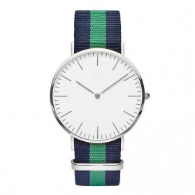 Jam Tangan Fashion Strap Berwarna (OEM) - Black/Green