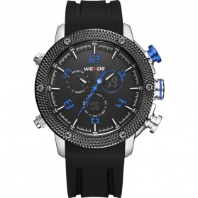 Weide Japan Quartz Silicone Strap Men LED Sports Watch 30M Water Resistance - WH5206 - Blue