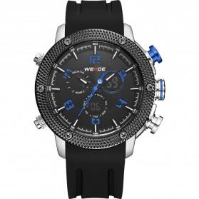 Weide Japan Quartz Silicone Strap Men LED Sports Watch 30M Water Resistance - WH5206 - Blue