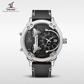 Weide Universe Series Three Time Zone 30M Water Resistance - UV1506 - Silver Black