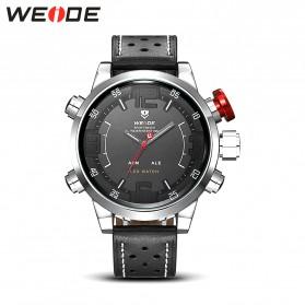 Weide Japan Quartz Miyota Men Leather Sports Watch 30M Water Resistance - WH5210 - Black/Silver