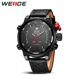 Weide Japan Quartz Miyota Men Leather Sports Watch 30M Water Resistance - WH5210 - Black
