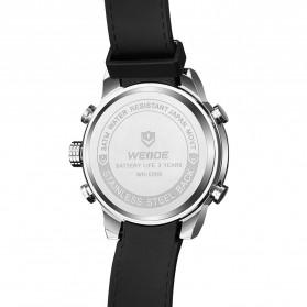Weide Japan Quartz Silicone Strap Men LED Sports Watch 30M Water Resistance - WH5209B - Black/Silver - 3