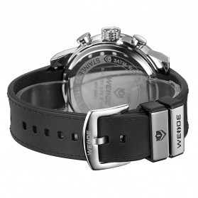 Weide Japan Quartz Silicone Strap Men LED Sports Watch 30M Water Resistance - WH5209B - Black/Silver - 4