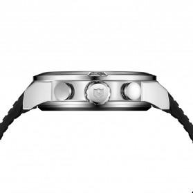Weide Japan Quartz Silicone Strap Men LED Sports Watch 30M Water Resistance - WH5209B - Black/Silver - 5