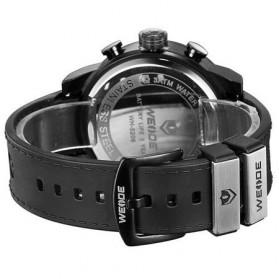 Weide Japan Quartz Silicone Strap Men LED Sports Watch 30M Water Resistance - WH5209B - Black - 3