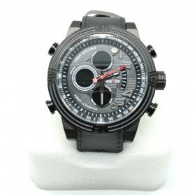 Weide Japan Quartz Silicone Strap Men LED Sports Watch 30M Water Resistance - WH5209B - Black - 4