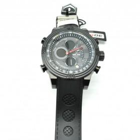 Weide Japan Quartz Silicone Strap Men LED Sports Watch 30M Water Resistance - WH5209B - Black - 5