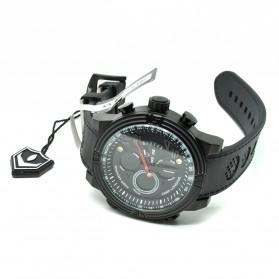 Weide Japan Quartz Silicone Strap Men LED Sports Watch 30M Water Resistance - WH5209B - Black - 6