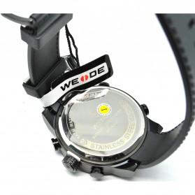 Weide Japan Quartz Silicone Strap Men LED Sports Watch 30M Water Resistance - WH5209B - Black - 7