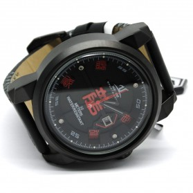 Weide Jam Tangan Analog Strap Kulit - UV1509 - Red - 2