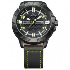 Weide Universe Series Quartz Leather Strap Water Restistant 30m- UV1608 - Black/Yellow - 5