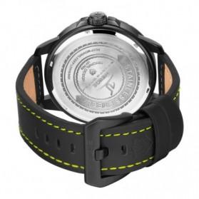 Weide Universe Series Quartz Leather Strap Water Restistant 30m- UV1608 - Black/Yellow - 6
