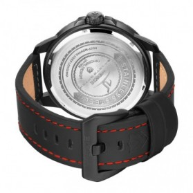 Weide Universe Series Quartz Leather Strap Water Restistant 30m- UV1608 - Black/Red - 6