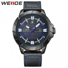Weide Universe Series Quartz Leather Strap Water Restistant 30m- UV1608 - Black/Blue