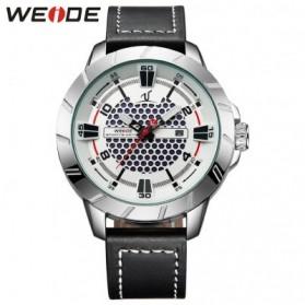 Weide Universe Series Quartz Leather Strap Water Restistant 30m- UV1608 - Black White - 1