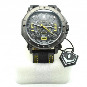 Weide Japan Quartz Leather Strap Men Sports Watch 30M Water Resistance - UV1601 - Yellow