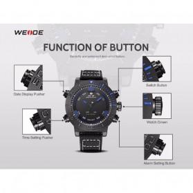 Weide Japan Quartz Miyota Men Nylon Leather Sports Watch 30M Water Resistance - WH6103 - Black/Blue - 7