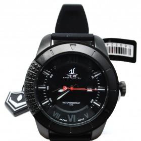 Weide Japan Quartz Silicone Strap Men LED Sports Watch - UV-1603 - Black