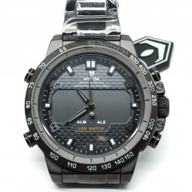 Weide Sport Watch Stainless Steel 30M Water Resistance - WH6102 - Black/Black - 1