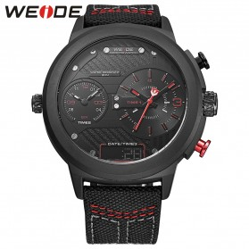 Weide Jam Tangan Analog - WH6405 - Black/Red