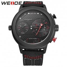 Weide Jam Tangan Analog - WH6405 - Black/Red