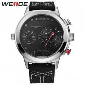 Weide Jam Tangan Analog - WH6405 - White/Black - 1