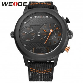 Weide Jam Tangan Analog - WH6405 - Black/Orange