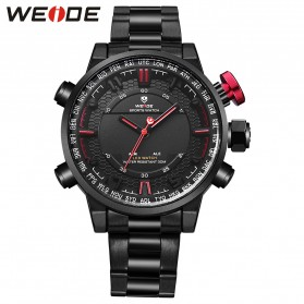 Weide Jam Tangan Analog - WH6402 - Black/Red