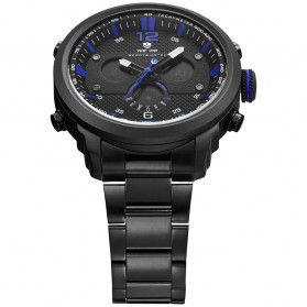 Weide Jam Tangan Analog Strap Stainless Steel - WH6303 - Black/Blue - 5