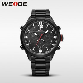 Weide Jam Tangan Analog Strap Stainless Steel - WH6303 - Black White