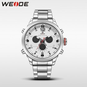 Weide Jam Tangan Analog Strap Stainless Steel - WH6303 - Gray Silver