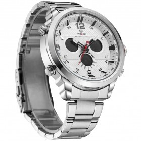 Weide Jam Tangan Analog Strap Stainless Steel - WH6303 - Gray Silver - 2
