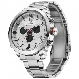 Weide Jam Tangan Analog Strap Stainless Steel - WH6303 - Gray Silver - 3