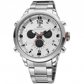 Weide Jam Tangan Analog Strap Stainless Steel - WH6303 - Gray Silver - 4
